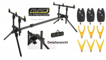DAM MAD® D-FENDER ROD POD  Komplett Set 10 tlg.